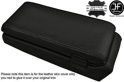 Black Stitching Armrest & Storage Box Leather Covers Fits Porsche 924 944