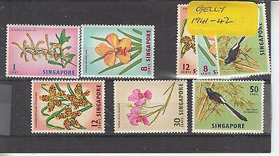 Singapore 1963 Nature Value To 50C Unmounted Mint
