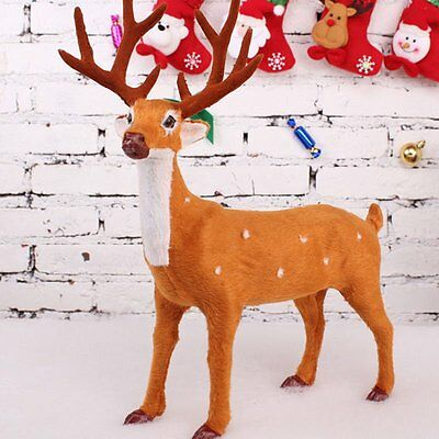 Xmas Christmas Deer Simulation Reindeer Ornaments Room Decoration Party Supply
