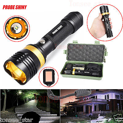 Super Bright 6000LM XML T6 LED Adjustable Torch Lamp+Batterie+Lad Zoomable Focus