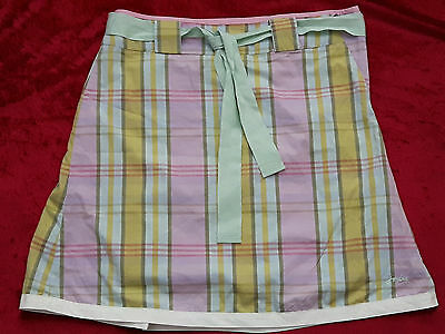 Girls JOULES  Pastal Check Skirt Lined Age 9-10 Hardly Worn