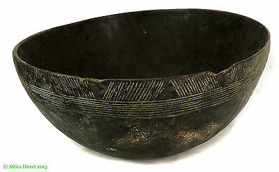 Nupe Bowl Wood Engraved Nigeria African Art