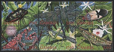 Gambia 2002 - Mi-Nr. 4821-4826 ** - MNH - Insekten / Insects