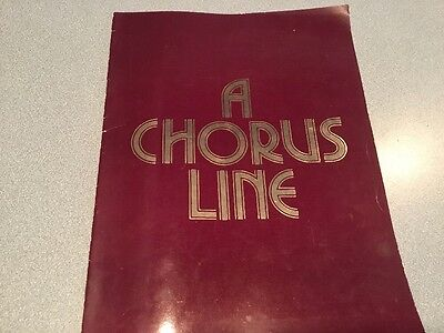 A Chorus Line    Souvenir Brochure Program Musical Broadway 1990