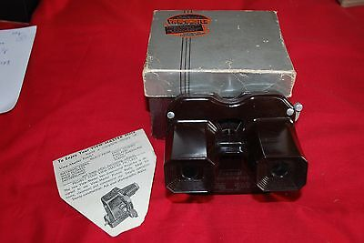 Rare Brown Boxed View Master Model C Viewer In Limited Production B4 Black Model