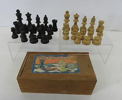 Boxwood Chessmate French Made Chess Set Comes In Wooden Box