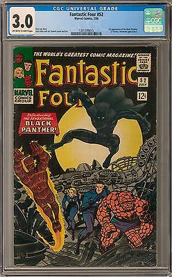 Fantastic Four #52 CGC 3.0 (OW-W) 1st Black Panther Appearance