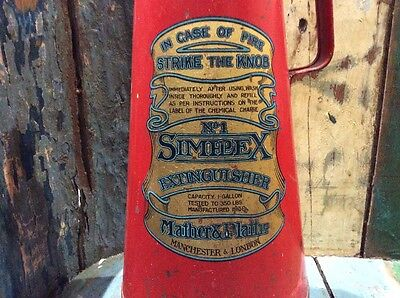 Antique Mather & Platt Simple No1 Conical Fire Extinguisher.