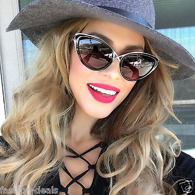 "Cat Eye "" Daria"" Style Criss Cross Sunglasses Vintage Retro Fashion Women Shades"
