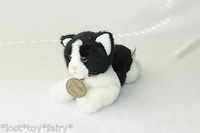 Russ Yomiko Classics Calico Black & White Cat Kitty 25377 Stuffed Plush Toy 10""