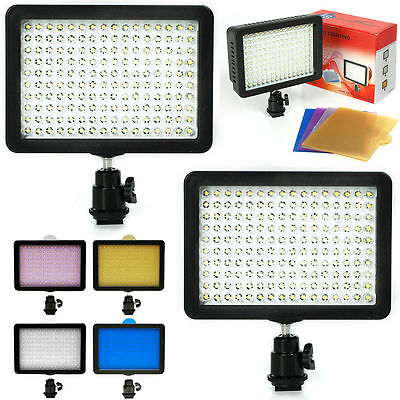2Pack 160 LED Studio Video Light for Canon Nikon DSLR Camera DV Camcorder