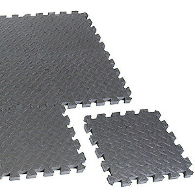 Cap Barbell Anti-Microbial 12In; x 12In; x 3/4In; 12 Piece Puzzle Mat