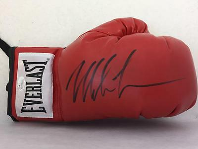 One Iron Mike Tyson Signed Everlast Right Red Glove Jsa Witnessed Coa Autograph