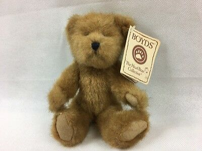 Teddy Bear By Boyds The Head Bean Collection Soft Toy Moveable Limbs New