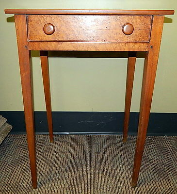 18th Century Antique Splayed Leg One Drawer Hepplewhite Walnut Stand Work Table