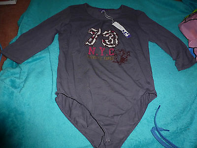 M And S Girls Limited Collection All In One Grey Body / Top Age 15 Years Bnwt