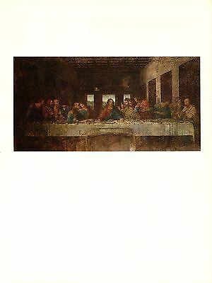 "1974 Vintage LEONARDO DA VINCI ""LAST SUPPER"" JESUS COLOR offset Lithograph"