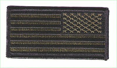 United States flag 4x2 black/green reverse stars right TOBY patch