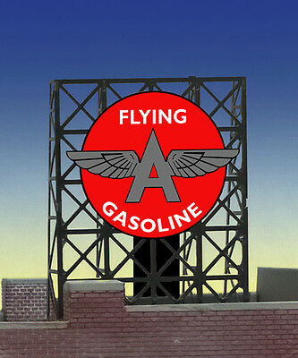 Flying A Gasoline Animated Billboard Sign for N Z Scale Miller 339035