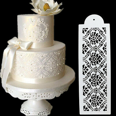 Plastic Cookie Cake Stencil Fondant Tool Decoration for Cake Wedding Flower ATAU