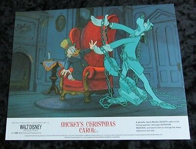 Disney's MICKEY'S CHRISTMAS CAROL lobby cards (UK FOH stills) Mini Set of 4