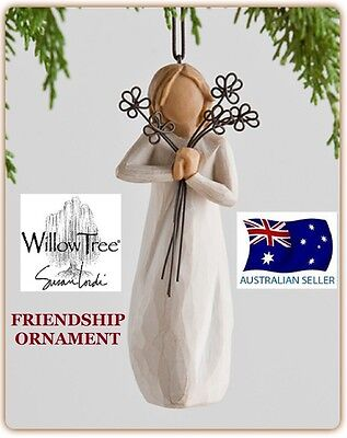 FRIENDSHIP ORNAMENT Demdaco Willow Tree Figurine By Susan Lordi BRAND NEW IN BOX