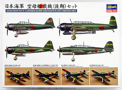 Hasegawa QG62 72162 Imperial Japanese Navy Carrier-Based Plane (Late) Set 1/350