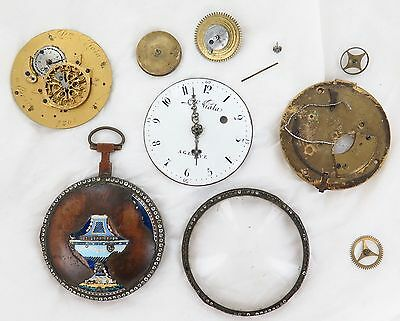 SUPER RARE 1700's PIERRE VIALA LARGE POCKET WATCH, NEEDS ASSEMBLING OR FOR PARTS