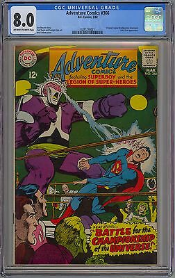 Adventure Comics #366 CGC 8.0 VF Ow-Wp DC 1968 Superboy & Legion of Super-Heroes