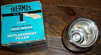 Vintage Genuine Thermos Stronglas Replacement Filler No. 60F 10 Oz. Threaded New