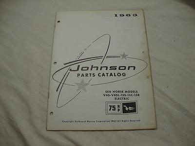Johnson outboard parts catalog manual 1963 Sea Horse 75 HP V4S 15S 15C 379275