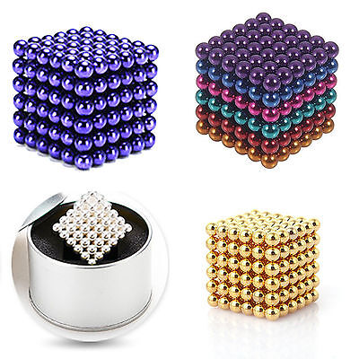 3D 216pcs 5mm Magnet Balls Magic Beads Puzzle Ball Sphere Magnetic Ball For Gift