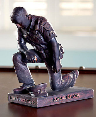 Called to Pray Police Law Officer in Prayer figurine