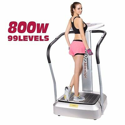 Whole Vibration Trainer Platform Machine Plate Massager Fitness Body Shaper Gym