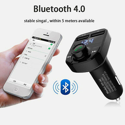 Wireless Bluetooth FM Transmitter MP3 Player Car Kit Radio Adapter USB Charger