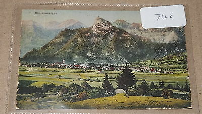 Old postally used postcard our ref#740 Oberammergau, Germany 1910