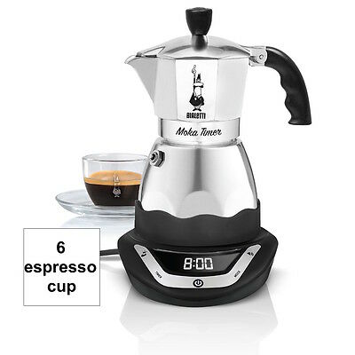 BIALETTI easy Timer moka coffee maker 6 cups electric espresso programmable