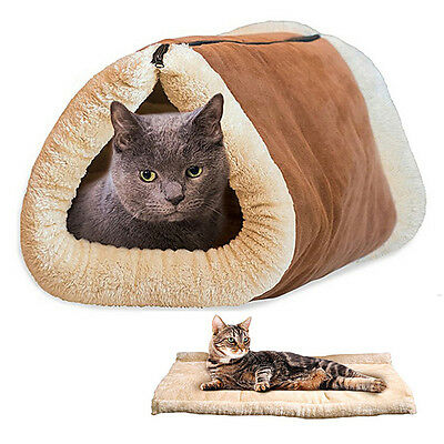 Chat Cat Pet Lit Tunnel Sac de Couchage Chaud Maison Peluche Doux Cotton Pliable