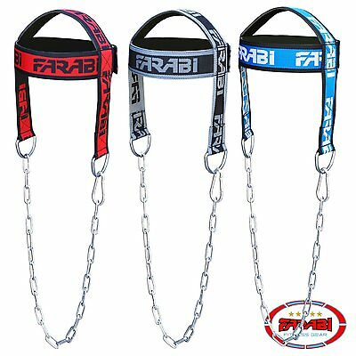 Farabi Head Harness Body Building Head Strap Comfort Training with Chain