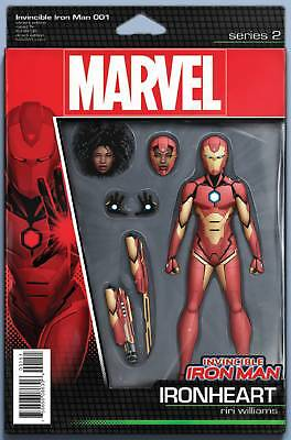 INVINCIBLE IRON MAN #1 CHRISTOPHER ACTION FIGURE VARIANT NOW (2016 1st Print)