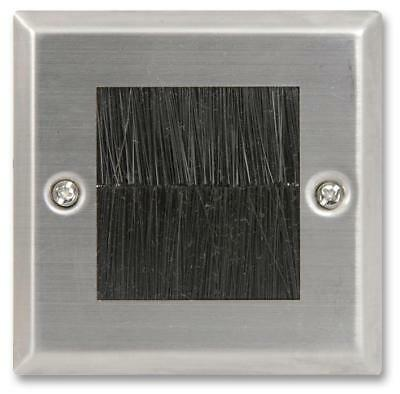 1-Gang Black Brush Steel Faceplate