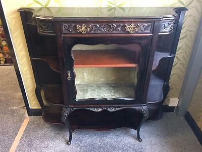 Antique Ebonised Late Victorian Glass Fronted Display Shelved Sideboard • £245.00