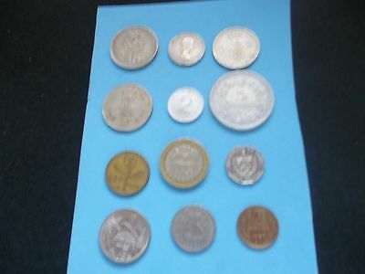 12 Mixed World Coins Nice Small Collection Builder.[#951] Worth A Look