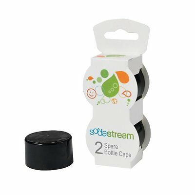 Sodastream Bottle Caps Black 2-Pack New