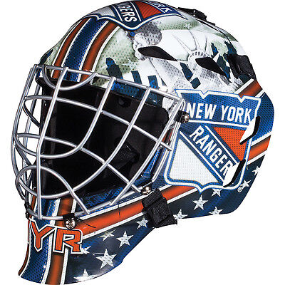 Franklin Sports GFM 1500 NHL New York Rangers Goalie Face Mask