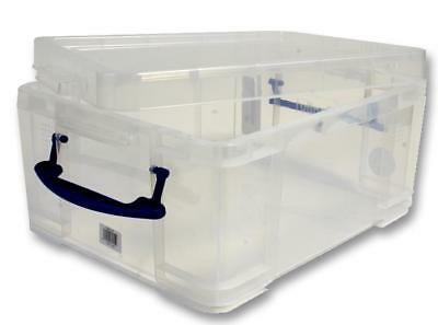 Universal Clear Storage Box with Lid, 21 Litre - 200 x 350 x 450mm