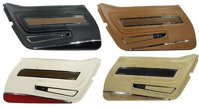70 - 77 Corvette Deluxe Door Panels, Pair, NEW, All Factory Colors Available!