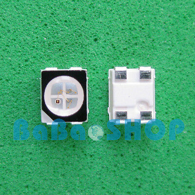 50pc ~1000pcs RGB Red Green Blue Full Color LED Light SMD 3528 1210 Common anode