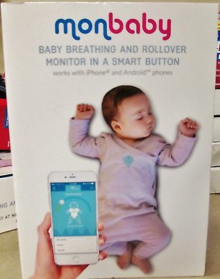 MonBaby Baby Breathing & Rollover Monitor White Smart Button & APP Apple Android