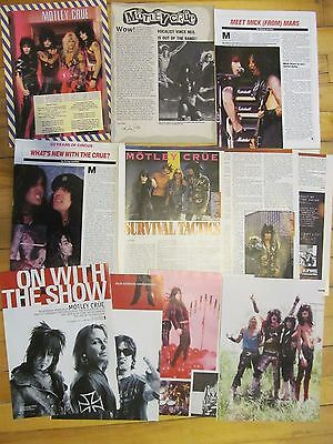Motley Crue, Lot of SIX Vintage Clippings